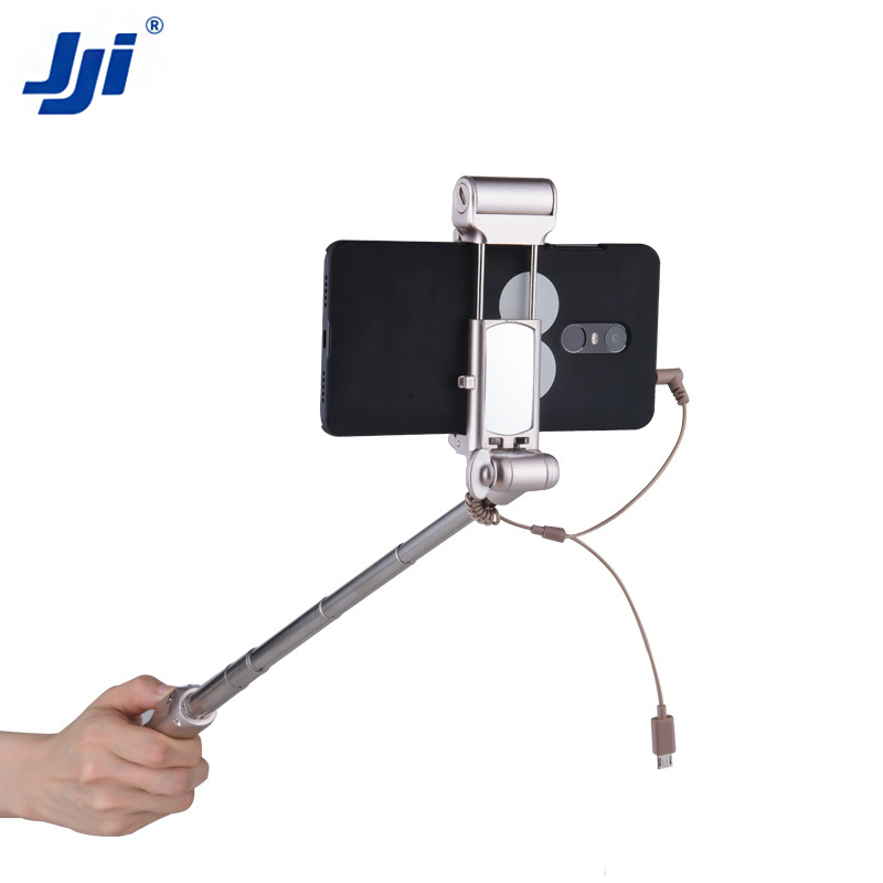 Best Selling Importsmirror Automated Wired Cable Take Pole Selfie Stick
