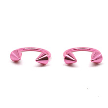 Women jewelry of horseshoe circular barbell set