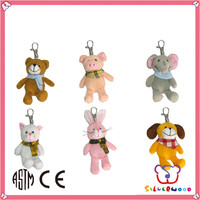 Familiar in oem odm factory lovely design mini plush mickey mouse keychain manufacturer