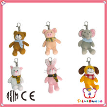 Familiar in oem odm factory lovely design mini mickey plush mouse keychain manufacturer