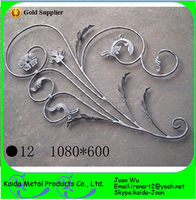 S Scrolls Welded Design Wrought Iron Panels With Leaves For Windows & Gates & Fence