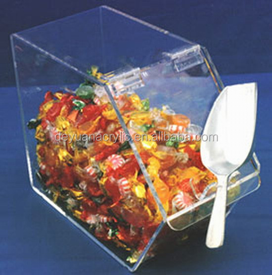 Food grade plastic acrylic candy box container