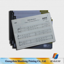 Professional CMYK offset printed full color piano music book /softcover book printing