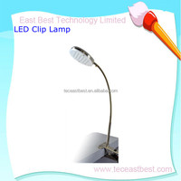High brightness rechargeable LED table lamp with clamp