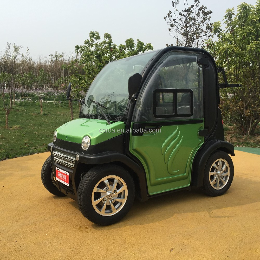 2 passenger 4 wheel electric car/ battery powered car tuk tuk/enclosed electric tricycle mini car