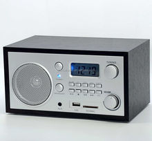 Wood USD/SD High Sensitivity Table Desk am fm Bluetooth Wood Led Digital Radio Alarm Clock