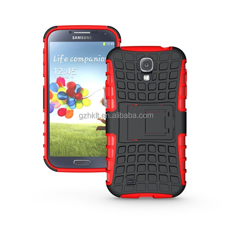 china supplier amazon hot sale dual layer heavy duty protective phone case for SAMSUNG GALAXY S4