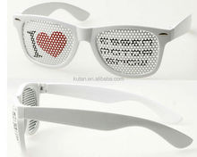 Hot Sell Funny Glasses With Custom Logo Pinhole Printing On lenses