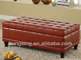 long storage ottoman bench with cushion