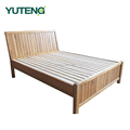 1.8m solid wood double bed Northern Europe style 1.5m princess wood bed