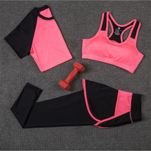 3pcs/set Women's Yoga <strong>Sports</strong> <strong>Wear</strong> Sets Gym Clothes For Workout