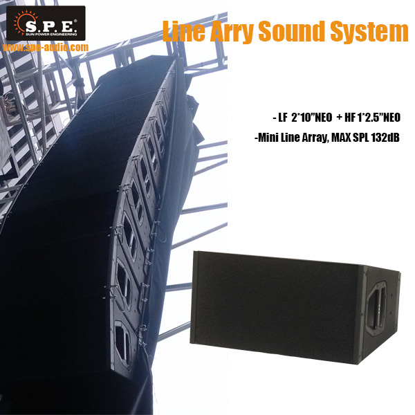 SPE AUDIO line array sound system 12 inch outdoor Cobra 4 vertical array sound system