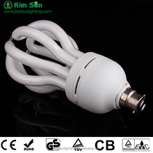 made in China 85w E27 6000hours lotus energy saving lamp BV canton fair alibaba express