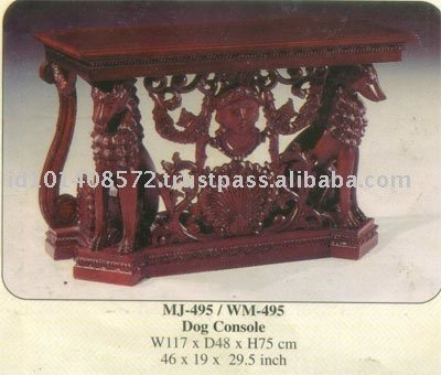 Dog Console Mahogany Indoor Furniture