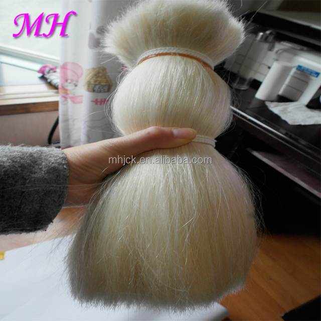 High Quality Goat Hair/Goat Long Hair the Raw Material Making Doll Wig Hair