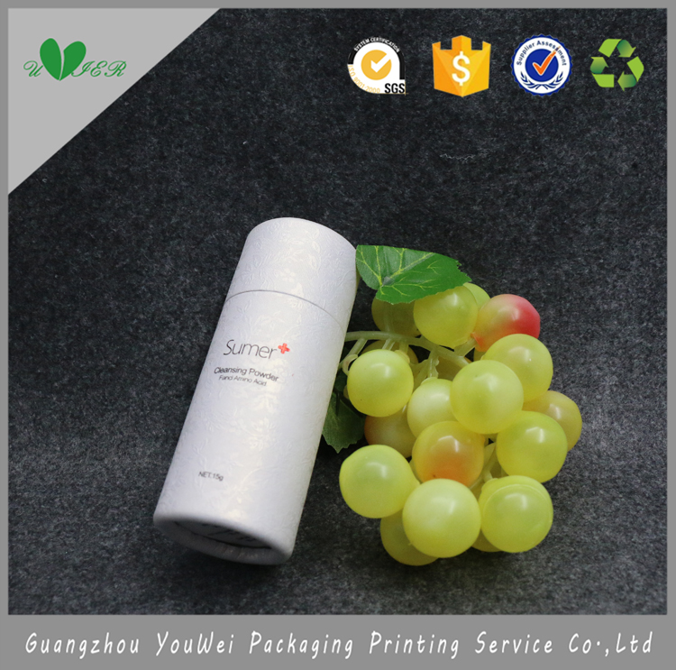 guangzhou wholesale customized logo cheap white color fancl amino acid cardboard cylinder packaging box for cleansing power