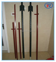 horse fence posts/metal angled fence posts/pvc paddock horse fence