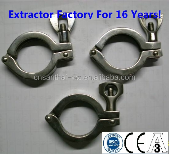 Sanitary adjustable stainless steel pipe fittings TC triclover Clamp