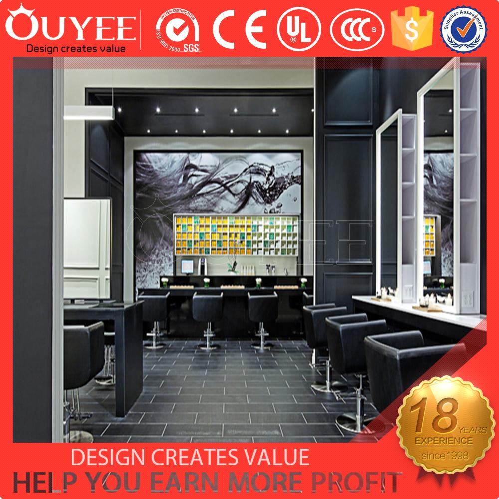 Black luxury hairdresser salon furniture hair salon for Luxury beauty salon furniture