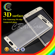 CRainbow 3D Full Cover Phone screen protector tempered glass film for s6 edge screen protector