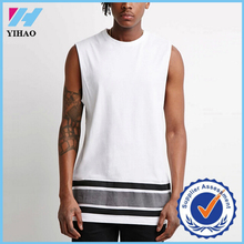 Yihao t shirt wholesale china white t shirt printed sleeveless gym bodybuilding muscle tee latest shirt designs for men 2015
