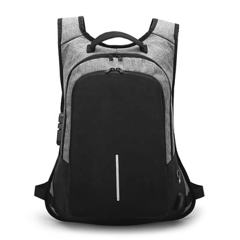 Waterproof Smart USB charging School backpack Anti theft Laptop bags backpack with lock