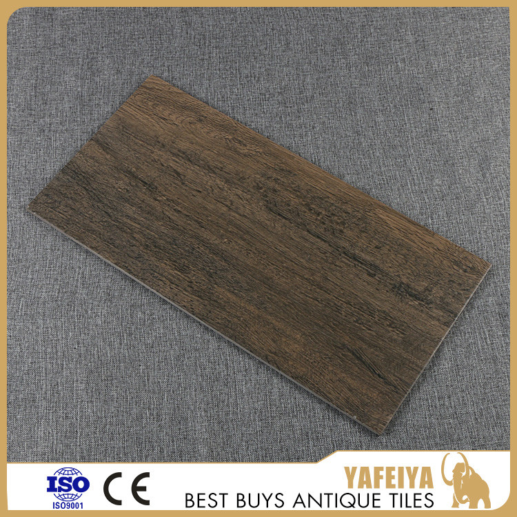 Chinese Manufacture 300x600mm wood finish decoration design kitchen floor tile