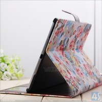 For iPad Air Case,For ipad 5 Case flower pattern ,Original Leather Case For Ipad Air 5