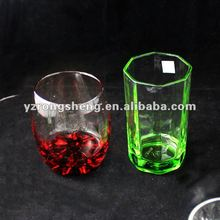 Sprayed color glass cup
