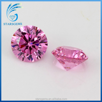 low price round brilliant cut pink cubic zirconia for sale