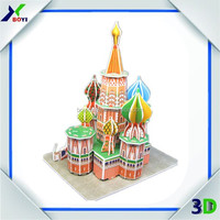 Chinese Toy Manufacturers 3D DIY Building Puzzle Game/Custom Cubic Fun 3D Puzzle/Children Plastic Puzzle Mat