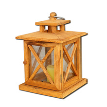 vintage wooden candlestick hanging wooden candle lantern with transparent window