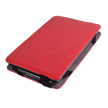 Color leather case for samsung galaxy tab in red with wholesale price