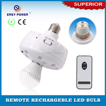 Hot sale in Indonesia with 220V AC Bulb middle E27 B22 Remote Control LED Emergency Light