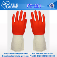 cheap high quality double color acid and alkali household emulsion gloves