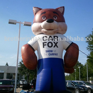 High quality Inflatable Fox model for advertising and sales
