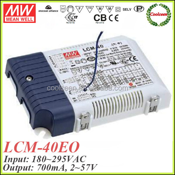 Meanwell LCM-40EO-700 700ma led driver power supply