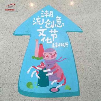 Factory custom cheap printing removable floor stickers for sale and promotion