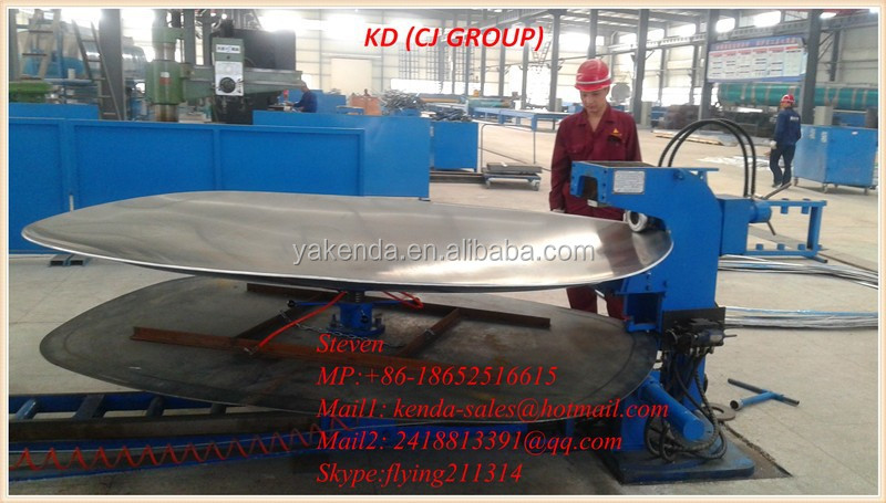 Tank dish end flanging Machine