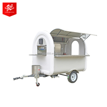 mobile catering trailer/mobile food kiosk catering trailer grilled sausage machine/bike food cart for Burma
