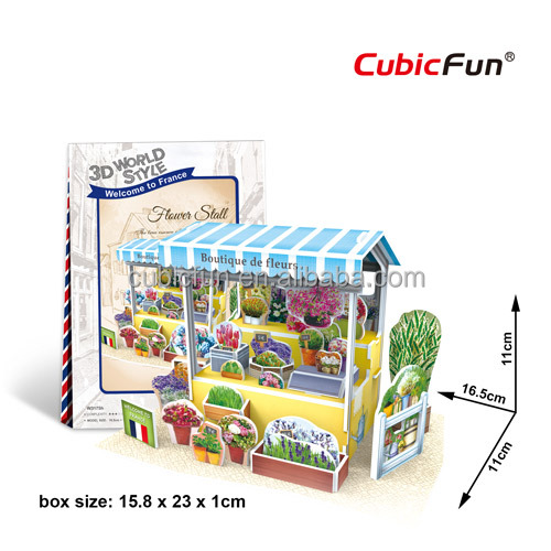 Mini 3d World Style -- Flower Stall 3d puzzle