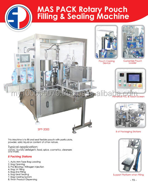MAS PACK Rotary Pouch Filling & Sealing Machine