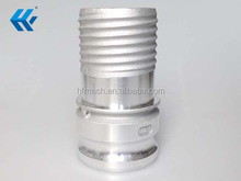 Hot sale competitive metal cam-and-groove hose couplings with shut-off valve