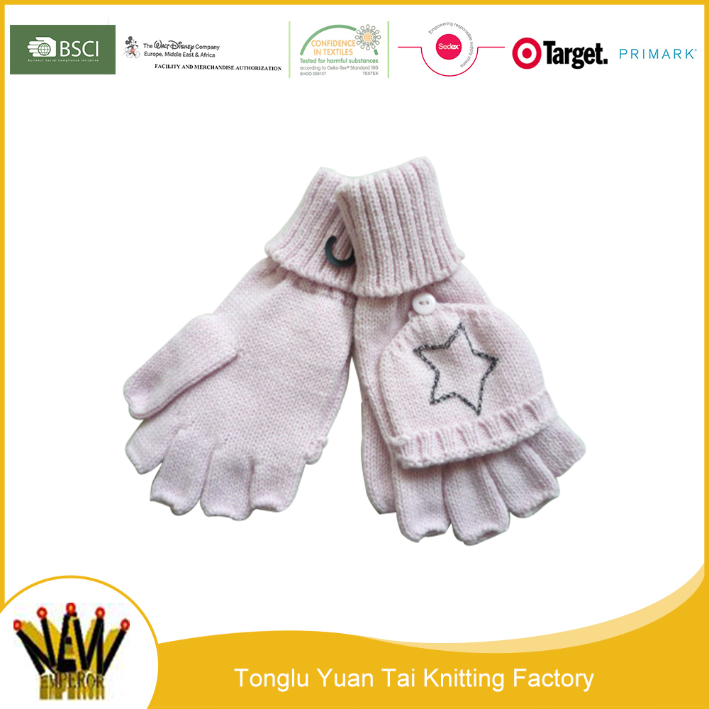 New cheap wholesale custom fashion knitting mittens gloves