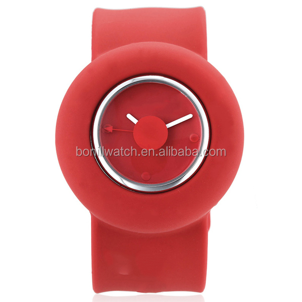 2015 OEM kids jelly pvc slap watch,cheap watch and best christmas gift for children