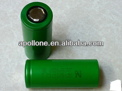 Shenzhen Original Li-ion 26650 2600mAh US26650VT Battery Cell made in Japan with 20C