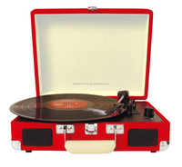 New Handy Briefcase Style!!! Multi Record Player& Fashion Turntable with Longlife Battery/Bluetooth/3 Speed