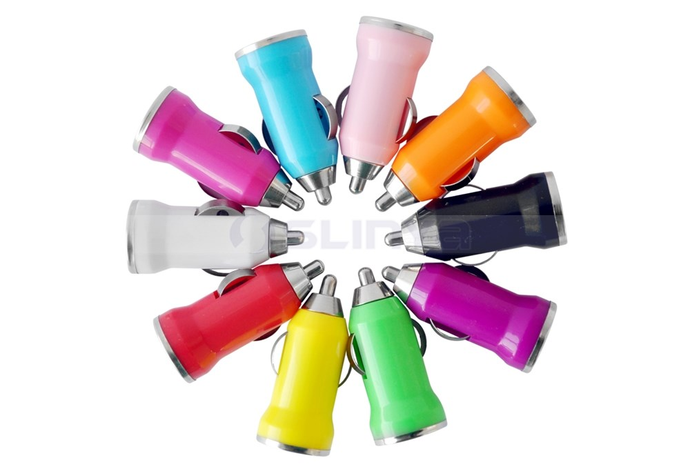 10 Colors Cheap Promotional 1A/5V Car Adapter USB Car Chargers For Mobile Phone iPhone