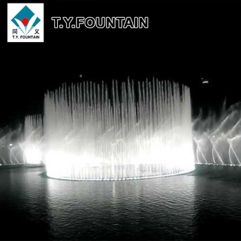 Led Light Pool Lake Outdoor Music Floating Water Fountain