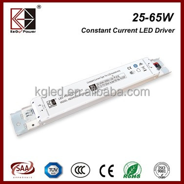 TUV SAA CE CCC 25W 200mA flicker free constant current slim led power supply